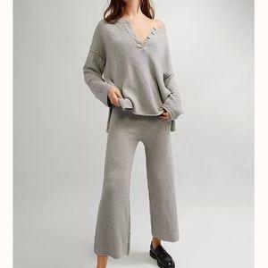 NWT Free People 2-piece Hailee Sweater Set Gray